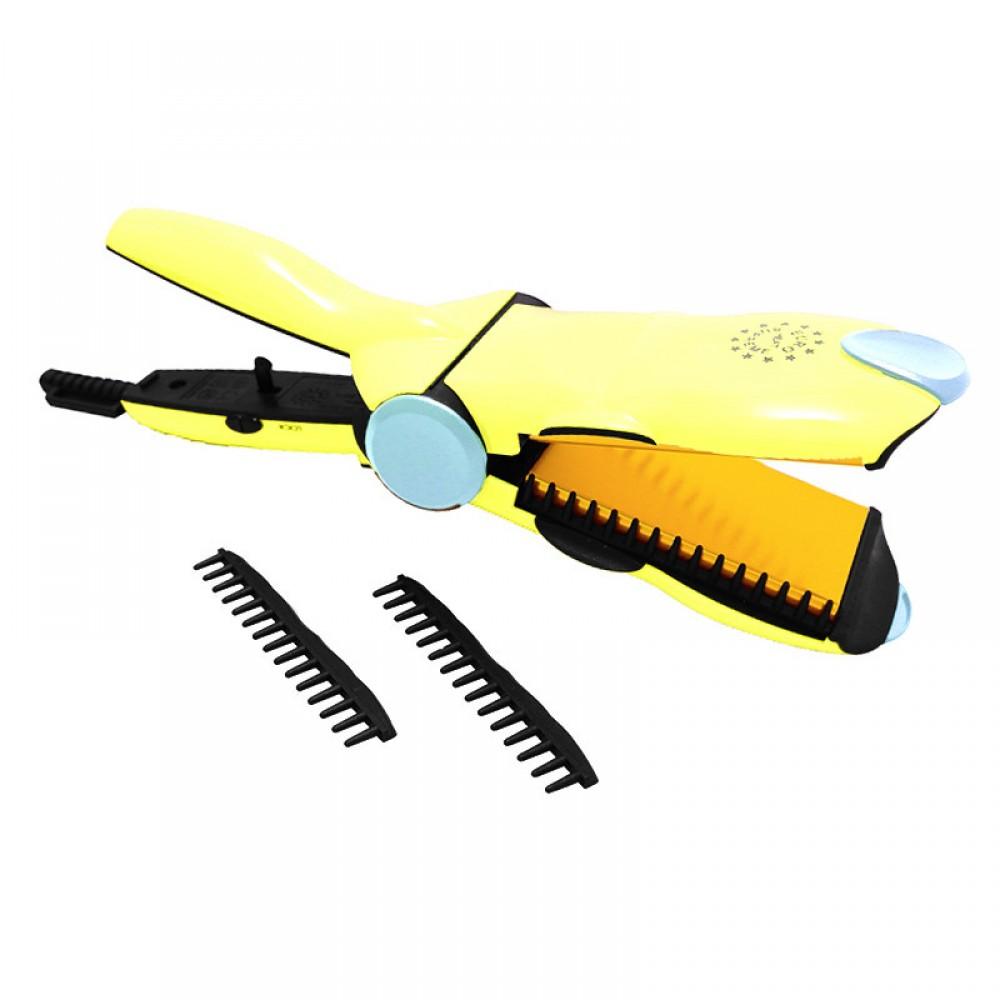 Euro Hair Straightener Crimper (YELLOW)