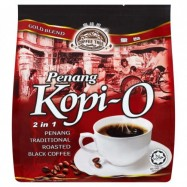 image of Penang traditional roasted black coffee Premium quality Halal 2 in 1 Penang Kopi-O (30g X 20 sachets)