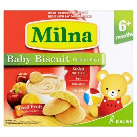 image of Milna Baby Biscuit Mix Fruit 6 Month+ 130G