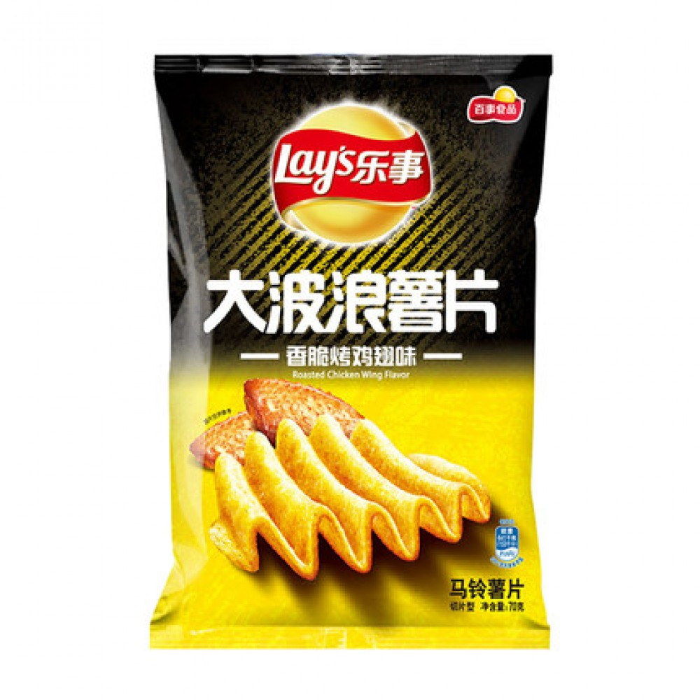 Magstore - Lay's 乐事大波浪薯片香脆烤鸡翅味