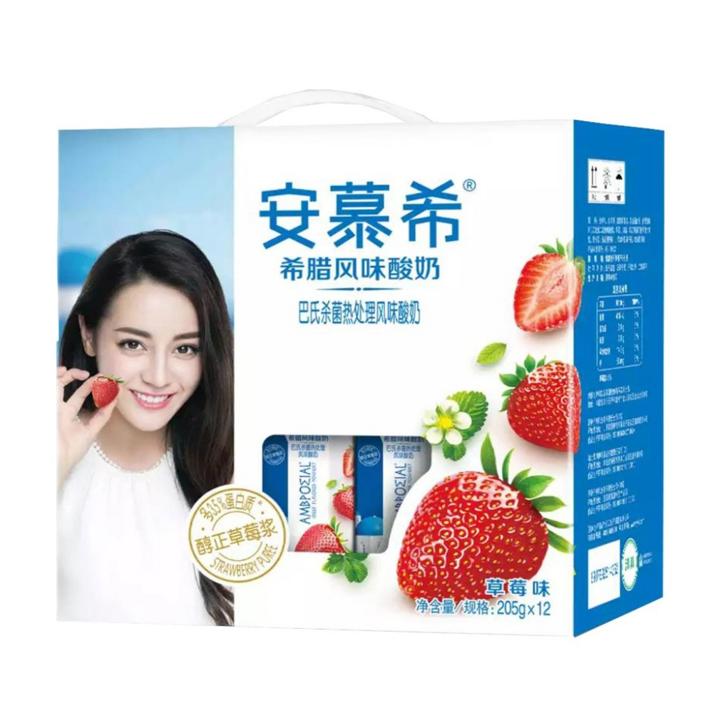 Magstore - 安慕希希腊风味酸奶(草莓味)205g x 12