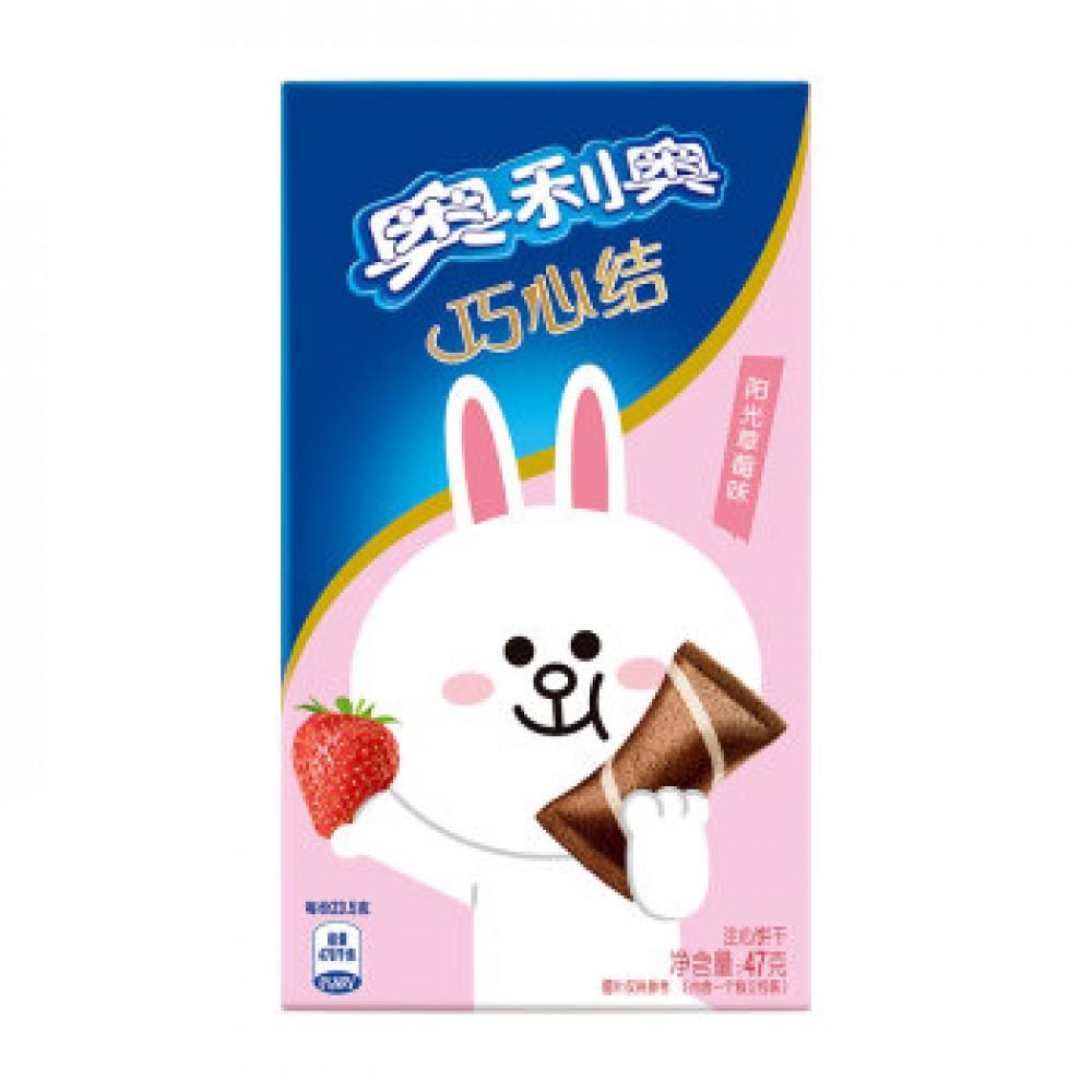 奥利奥巧心结阳光草莓味47G
