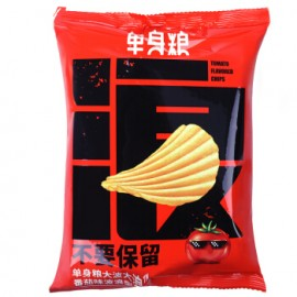 image of 单身粮番茄味波浪型薯片50G