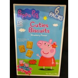 image of PEPPA PIG CUTIES BISCUITS STRAWBEEY FLV 6PACKS 90G
