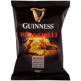 image of BURTS GUINNESS RICH CHILLI CHIPS 40G