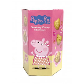 image of PEPPA PIG STRAWBERRY CREAMY FILLED BISCUITS 40G