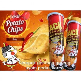 image of PEKE POTATO CHIPS KOREA SPICY CHICKEN 110G