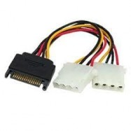 image of HIGH QUALITY MOLEX 4 PIN Y (F) TO SATA (M) POWER CABLE (S023)