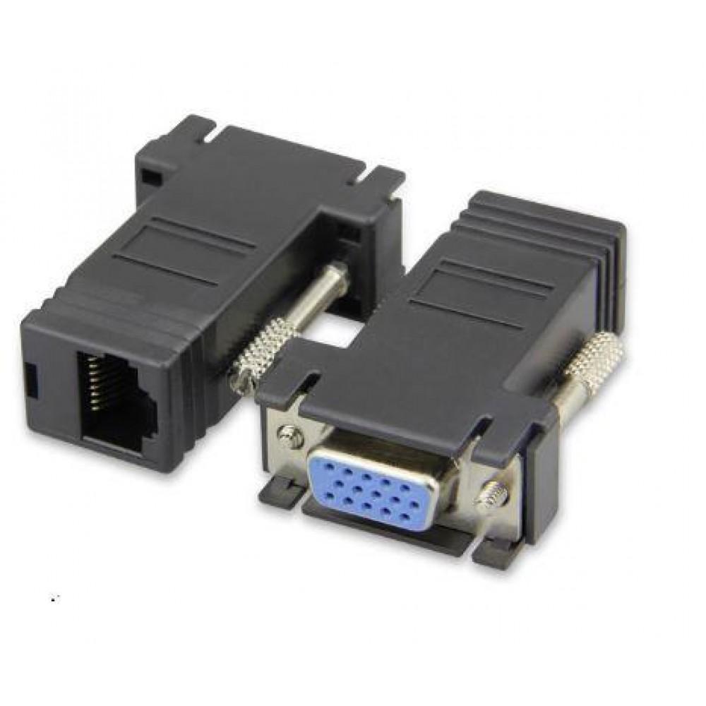 VGA DB15 (F) to LAN RJ45 Extender Adapter (S013)
