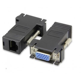 image of VGA DB15 (F) to LAN RJ45 Extender Adapter (S013)