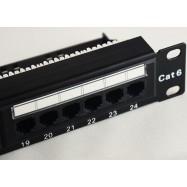 image of CAT6/ CAT 6 1U RJ45 24-Port + Rear Cable Management Patch Panel (S029)
