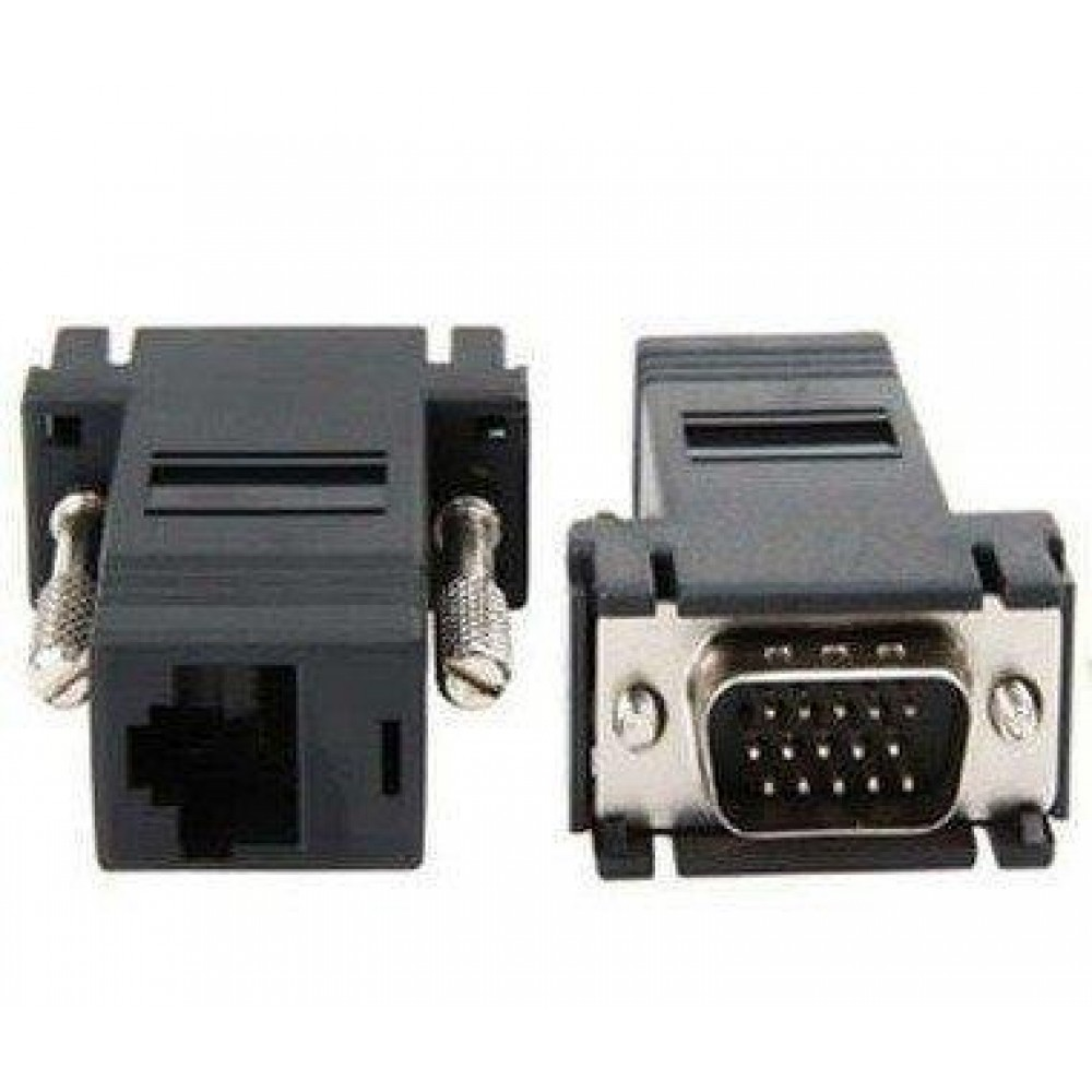 VGA DB15 to LAN RJ45 Extender Adapter (S019)