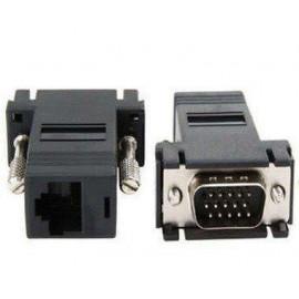 image of VGA DB15 to LAN RJ45 Extender Adapter (S019)