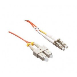 image of LC-SC 50/125 Multimode Duplex Fiber Patch Cable OM2 3 Meter (S030)