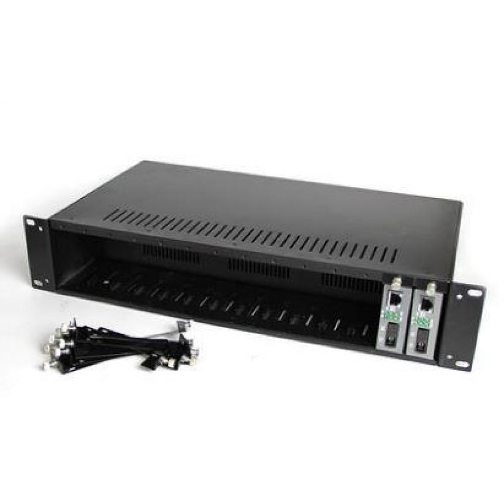 Netlink 14 Slot Unmanaged Fiber Media Converter Casing Rack (S015)