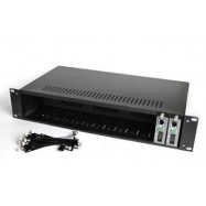 image of Netlink 14 Slot Unmanaged Fiber Media Converter Casing Rack (S015)