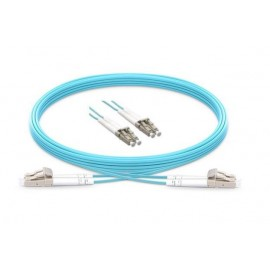 image of LC-LC 50/125 10GIG OM3 Multimode Duplex Fiber Cable 5 Meter (S043)