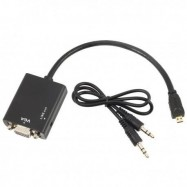 image of MICRO HDMI (M) TO VGA (F) + 3.5MM AUDIO CONVERTER (S051)