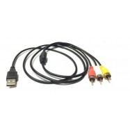 image of USB A Male to 3 RCA AV Cable 1.5 Meter (S059)