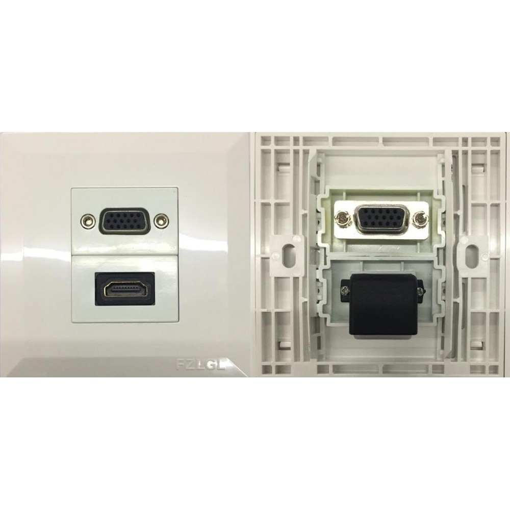 VGA + HDMI L TYPE V1.4 COMBO FACEPLATE (S070)