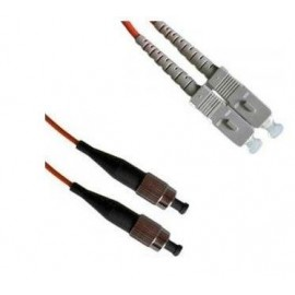 image of SC-FC Duplex MUltimode Optical Fiber Patch Cord 3 Meter (S073)