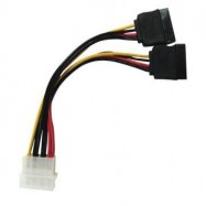 image of 4 PIN MOLEX TO SATA POWER Y SPLITTER CABLE (S101)