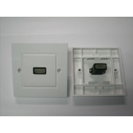 image of SINGLE HDMI FACE PLATE V1.4 WALL PLATE (S107)