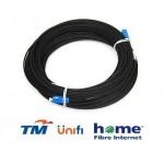Unifi Maxis Modem Fiber Optic Cable Outdoor 80 Meter Black (S118)