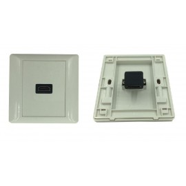 image of HDMI V1.4 FACE PLATE WALL PLATE- L TYPE (S105)