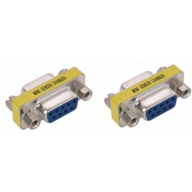 image of DB9 9PIN female female Mini Gender Changer RS232 RS422 RS4 (F573/S110)