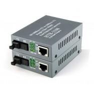 image of Single Mode Fiber to UTP 10/100 Media Converter 25KM 5V (S130AB)