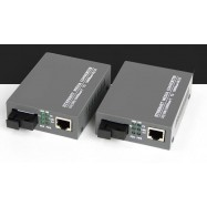 image of Single Mode Fiber to UTP Gigabit Media Converter 5V SET 20KM (S129AB)