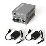 Single Mode Fiber to UTP Gigabit Media Converter 5V SET 20KM (S129AB)