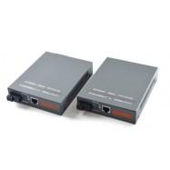 image of Single Mode Fiber to UTP Gigabit Media Converter Set 220V 20KM (S131)