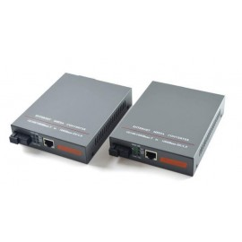 image of Single Mode Fiber to UTP Gigabit Media Converter Set 220V 20KM (S131)