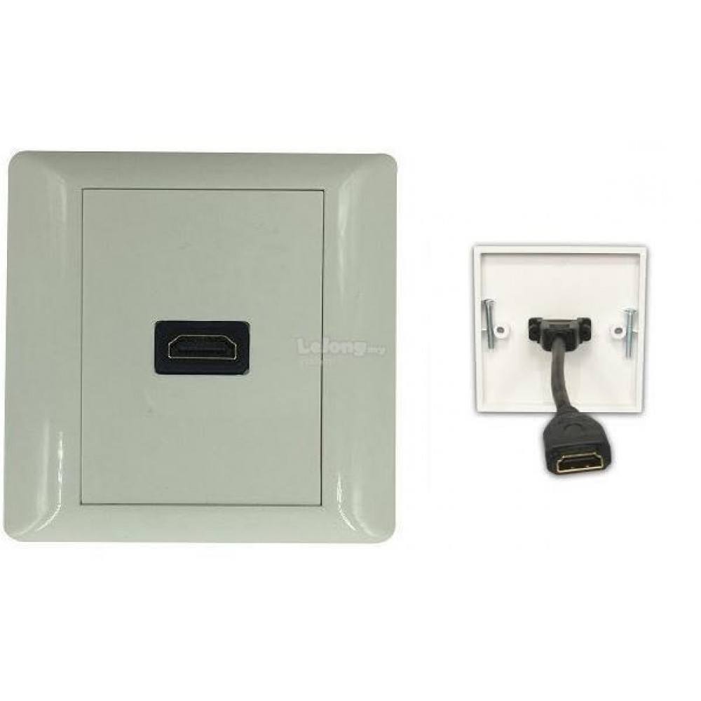 HDMI FACE PLATE V1.4 with 16cm Cable WALL PLATE (S172)