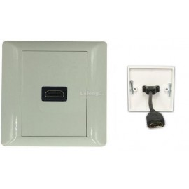 image of HDMI FACE PLATE V1.4 with 16cm Cable WALL PLATE (S172)