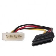 image of HIGH QUALITY INTERNAL 4 PIN (M) TO SATA POWER CABLE (S187)