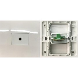 image of AUDIO AUX 3.5MM FACE PLATE WALL PLATE (S176)