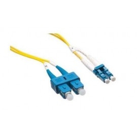 image of LC-SC 9/125 Single mode Duplex Fiber Patch Cable OS2 15 Meter (S196)