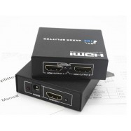 image of 4K * 2K HDMI SPLITTER 1 IN TO 2 OUTPUT V1.4 + Adapter (S174)