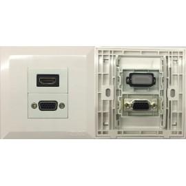 image of VGA + HDMI V2.0 COMBO FACEPLATE (S189)