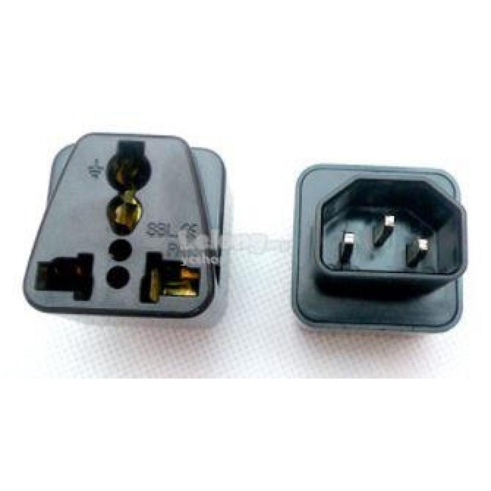 IEC C14 Male to C13 Universal UK US Socket PDU UPS Converter (S236)