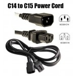 IEC C14 to IEC C15 1.5mm Power Cord 1.5 Meter (S239)