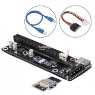 image of USB 3.0 PCI-E Express 1x To 16x Extender Riser Card + Cable (S227)