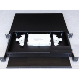 image of Fiber Patch Panel 12 Ports SC or ST or LC Rack Mount Enclosure (S210)