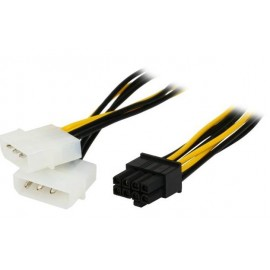image of 8Pin (F) To 2 X 4 PIN (M) Power Cable (S263)