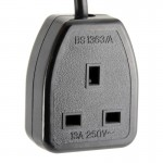 UPS IEC-320-C14 to UK Malaysia 13A Socket Power AC Plug C13 50CM(S241)