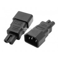 image of 2.5A Moulded IEC320 C14 to IEC C7 Adapter Converter laptop (S255)