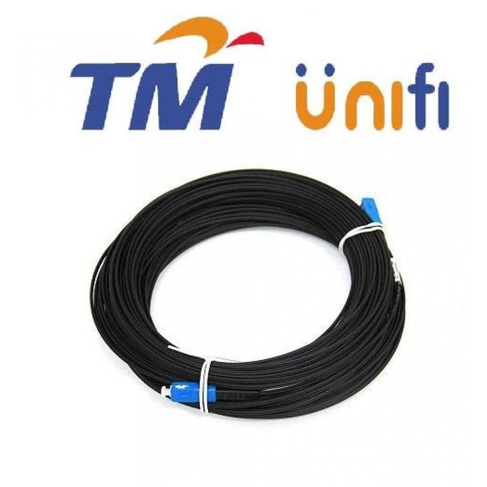 Unifi Maxis Modem Fiber Optic Cable Outdoor 200 Meter Black (S244)